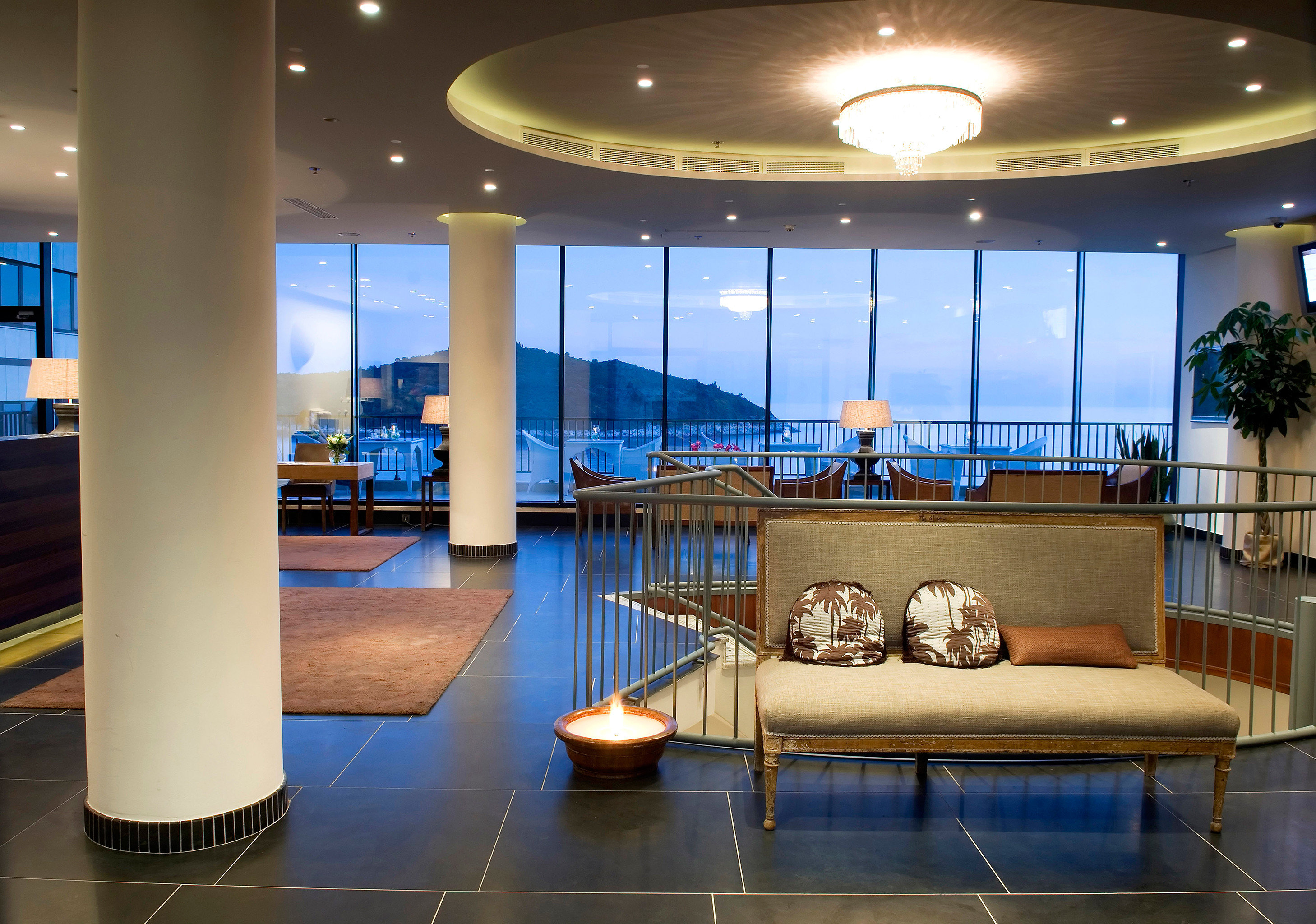 Lobby Scenic views Trip Ideas Architecture lighting yacht convention center living room headquarters