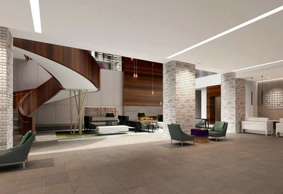 property Lobby Architecture house condominium home professional daylighting living room headquarters Villa flooring