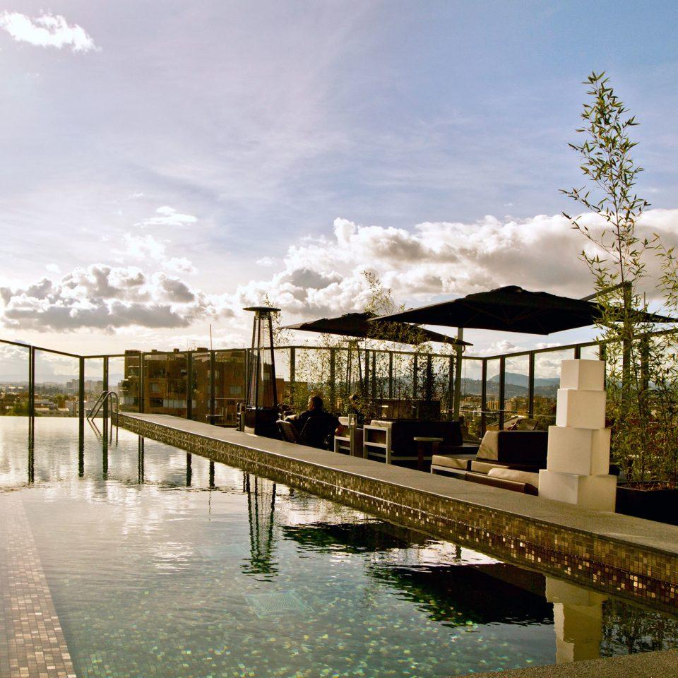 Luxury Modern Pool Scenic views sky building transport water Architecture bridge waterway railroad day