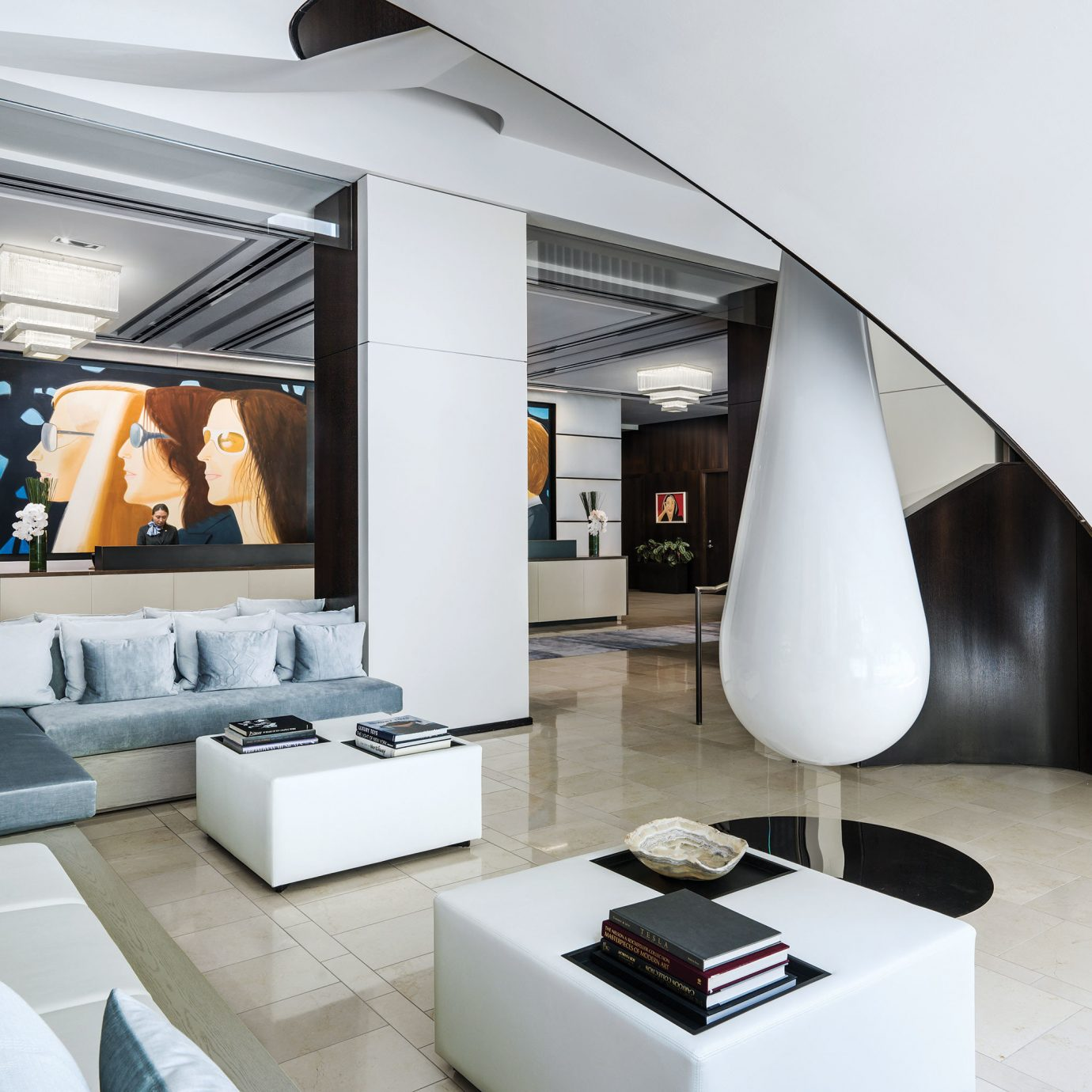 living room Architecture white home professional loft Modern