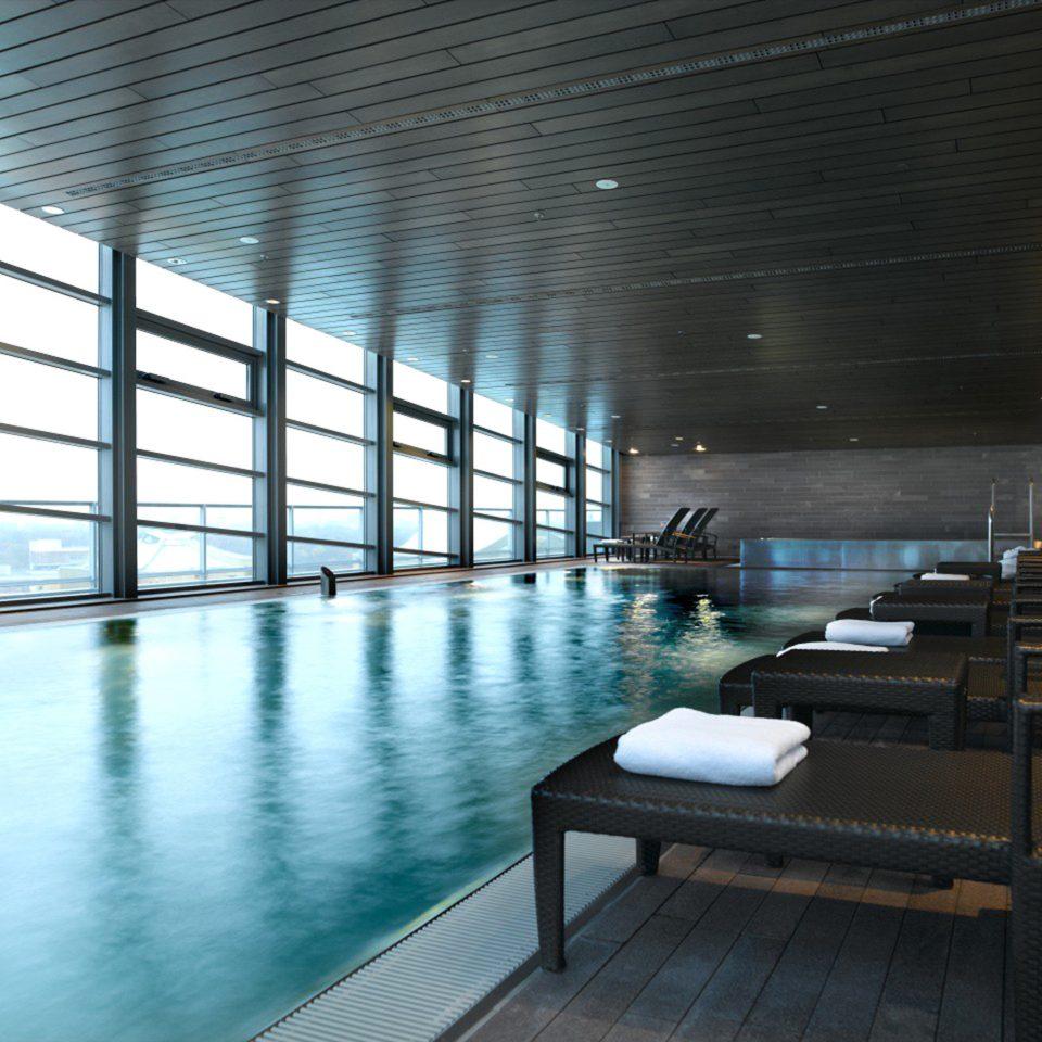Pool swimming pool Architecture lighting condominium headquarters