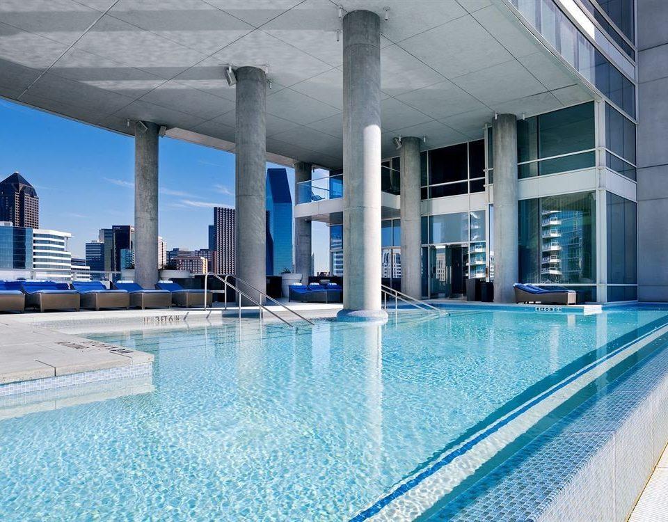 swimming pool leisure building Architecture leisure centre reflecting pool condominium Resort Pool blue