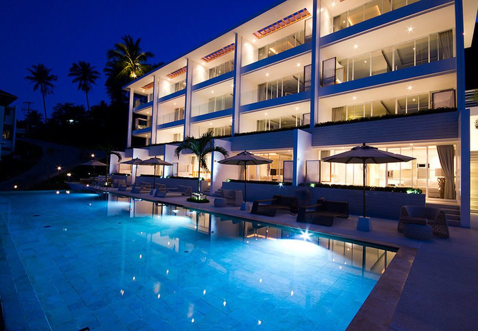 leisure swimming pool condominium Resort Architecture blue