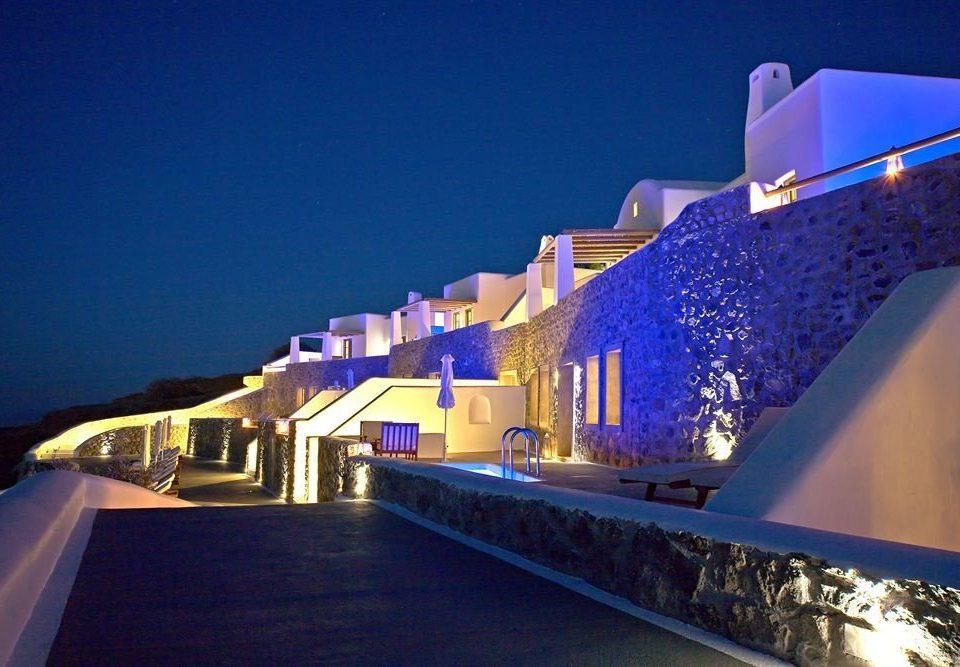 sky blue night landmark light Architecture Resort lighting evening
