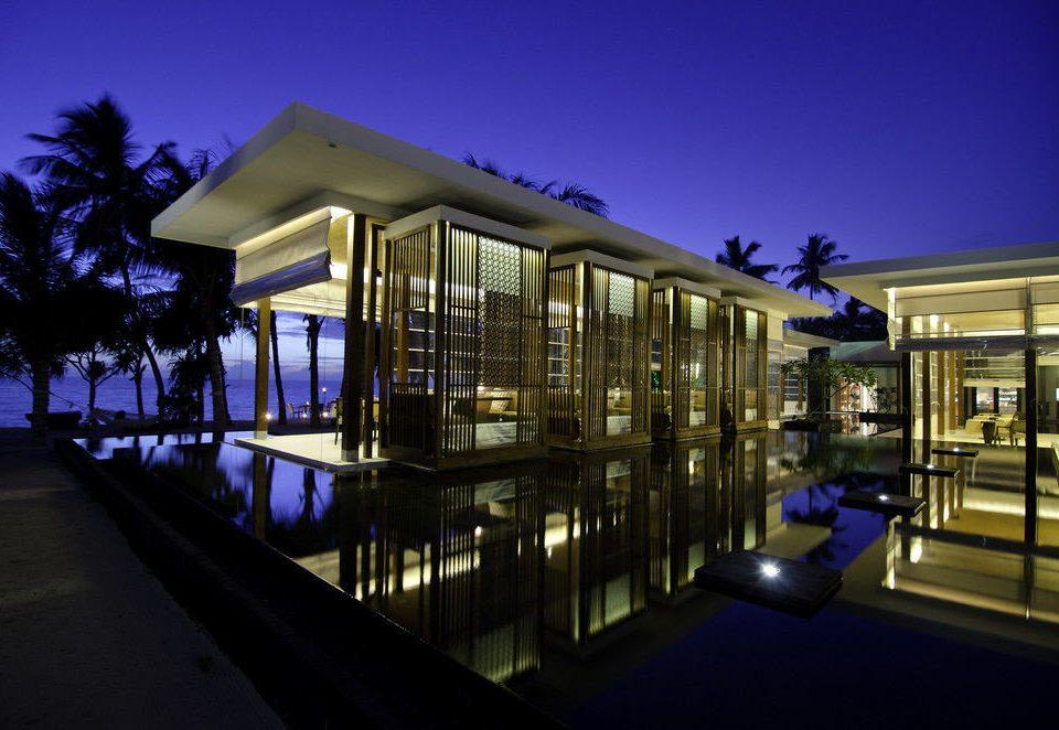 sky building house night Resort Architecture home lighting condominium