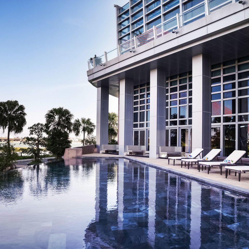 building water landmark Architecture swimming pool reflecting pool condominium home dock Resort