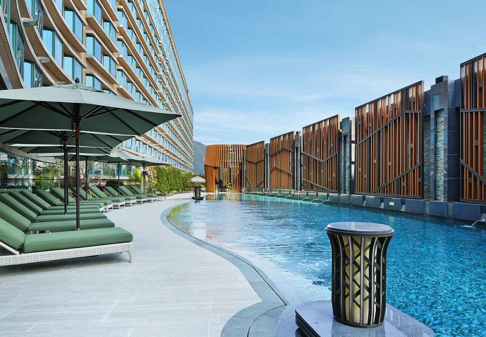sky leisure swimming pool building Architecture condominium Resort walkway