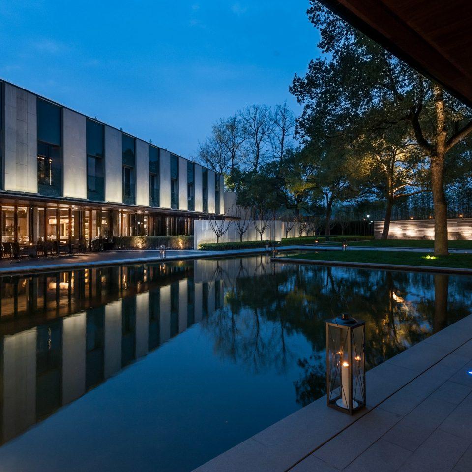 swimming pool Architecture night evening plaza Resort