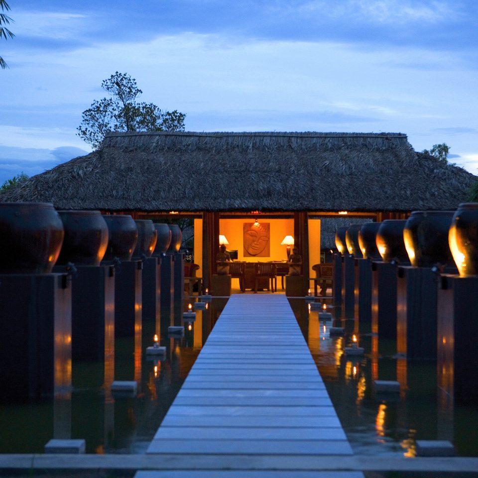 Resort Spa Wellness sky house light Architecture night evening sunlight