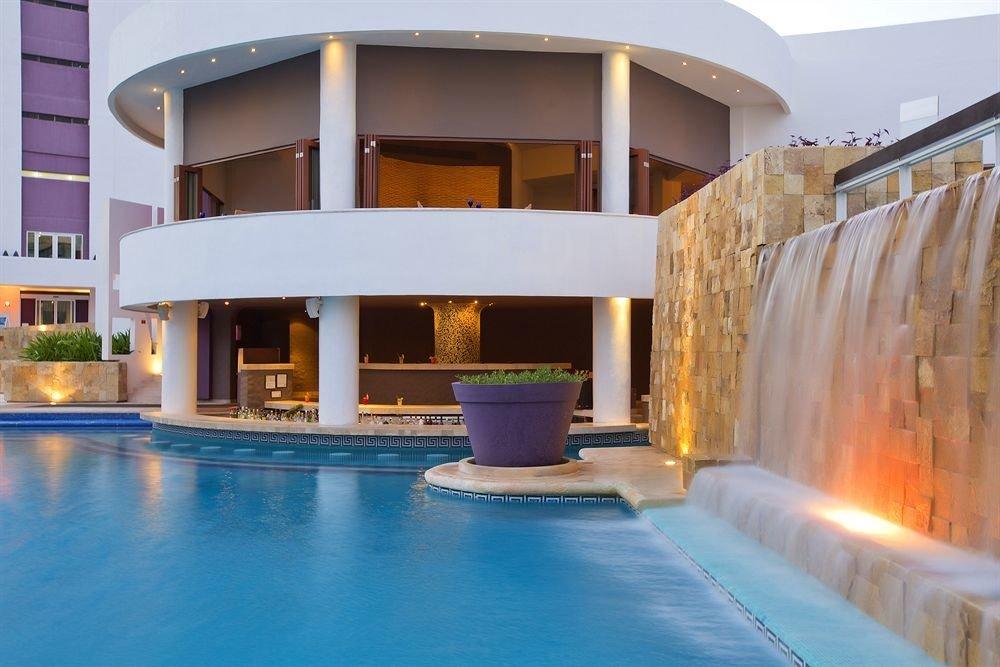 swimming pool property building Architecture leisure centre Villa Resort home mansion hacienda thermae condominium