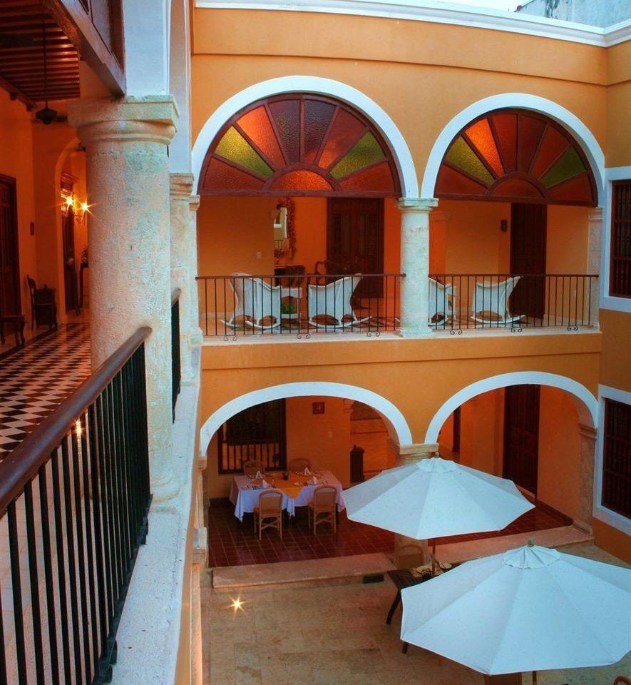 property building house Architecture restaurant hacienda Resort Villa home mansion colonnade