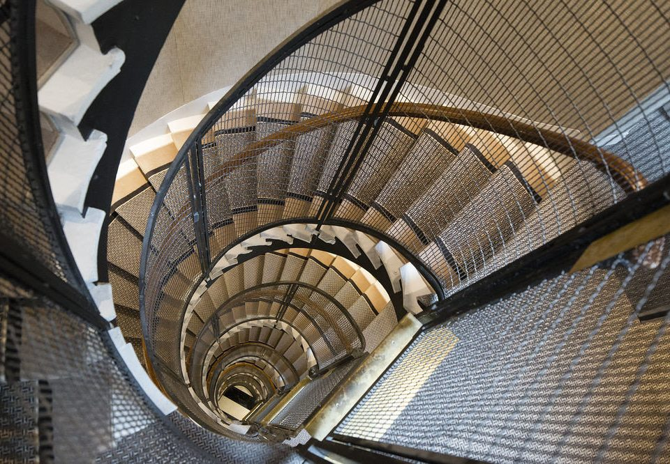 Architecture stairs spiral symmetry skyscraper