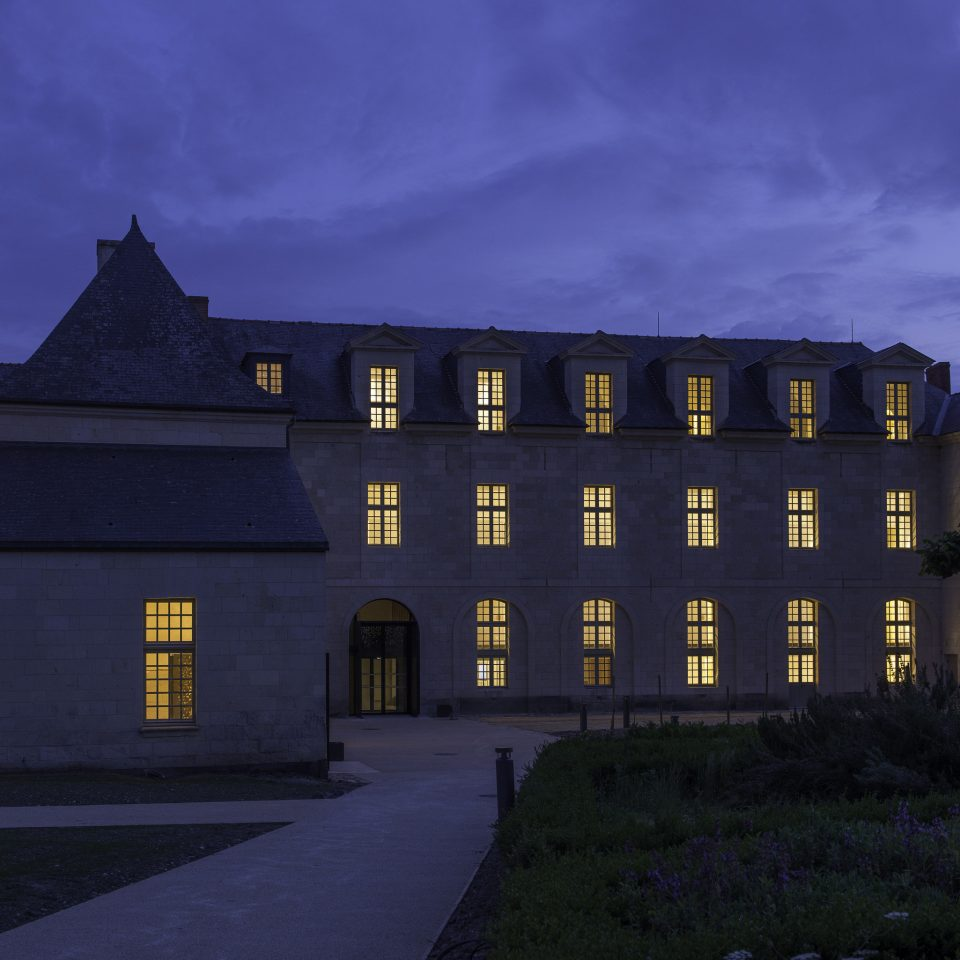 grass sky building house landmark night light Architecture darkness evening château dusk Sunset dark castle