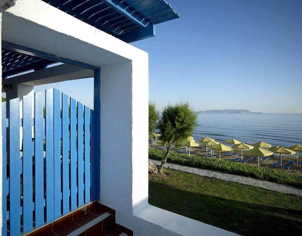 building blue house property Architecture home Villa condominium