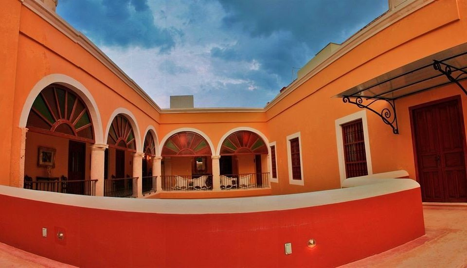 sky building red property Architecture hacienda home Villa roof