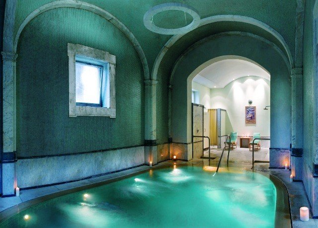 green swimming pool property Architecture mansion thermae hacienda Villa