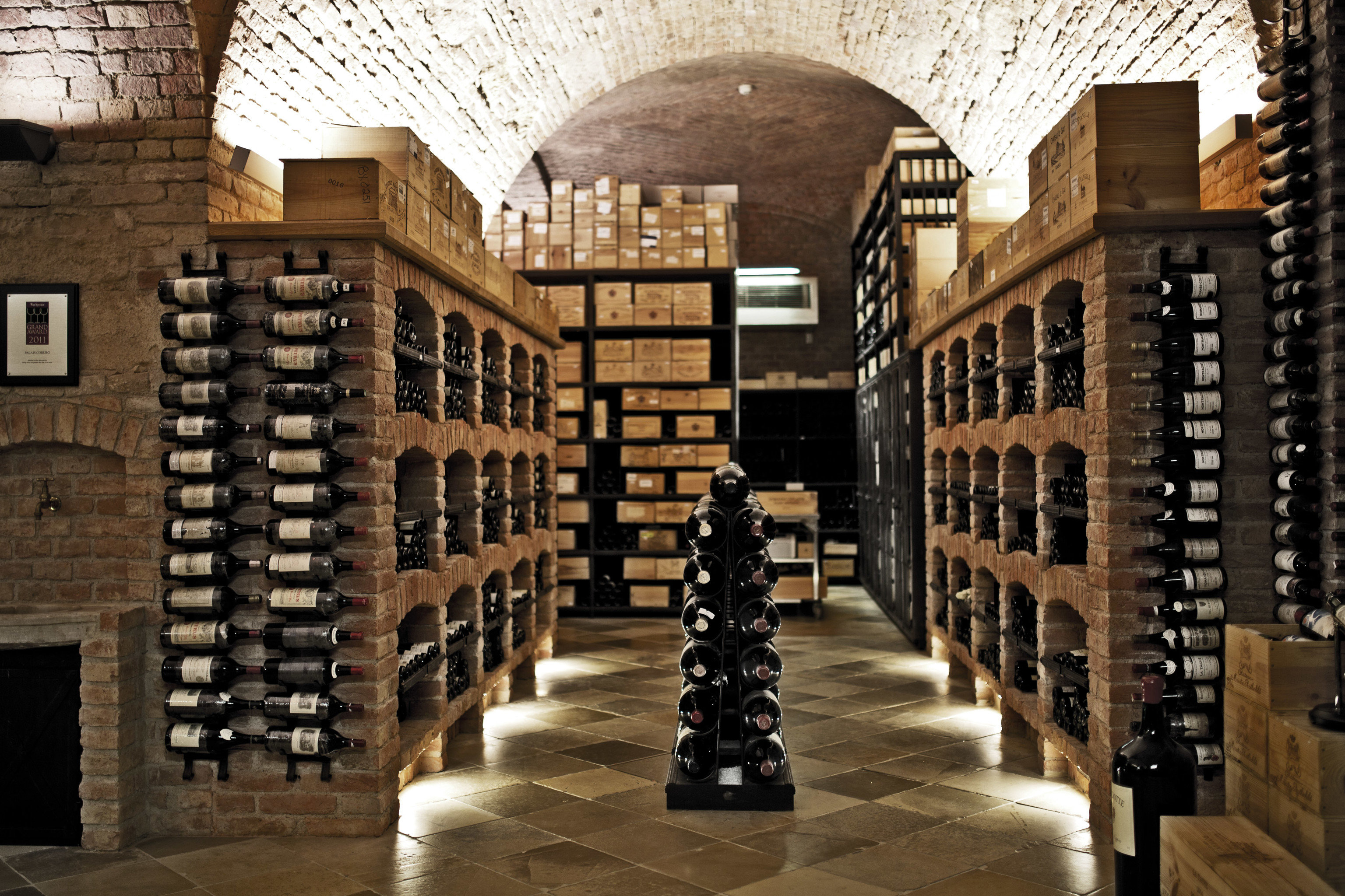 basement building Architecture Winery library aisle ancient history