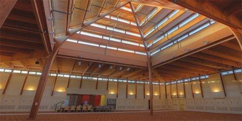 structure auditorium beam daylighting roof hall arena convention center