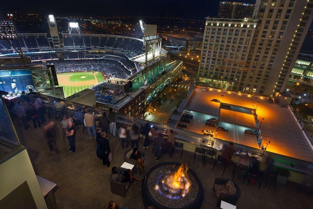 night metropolis sport venue screenshot cityscape arena