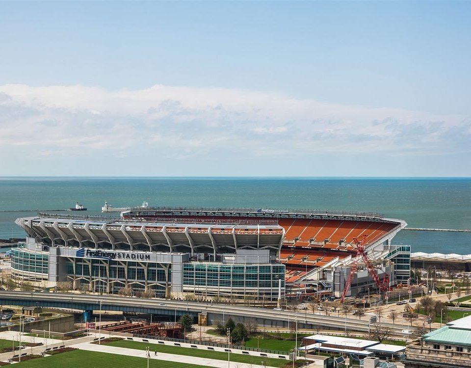 sky structure stadium sport venue soccer specific stadium arena shore day