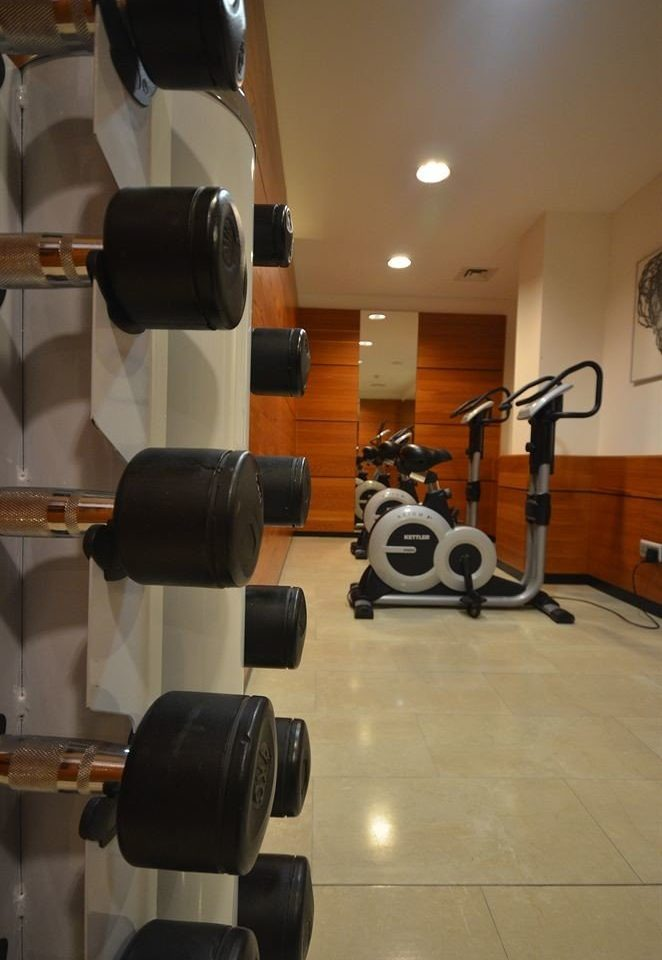 structure gym sport venue barbell muscle arm physical fitness