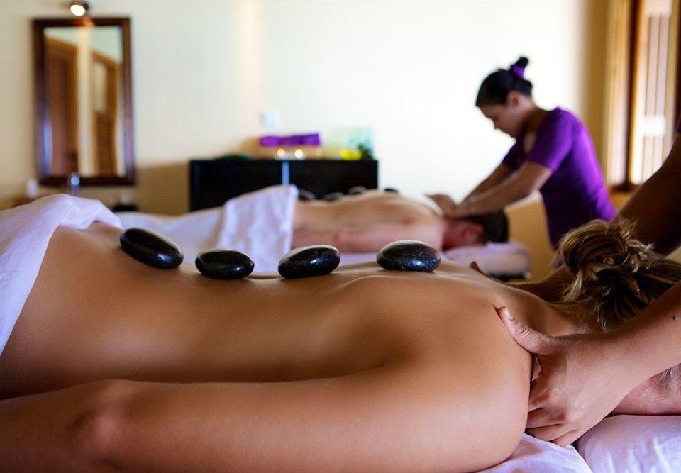 woman massage muscle therapy arm leg laying sense human body chest