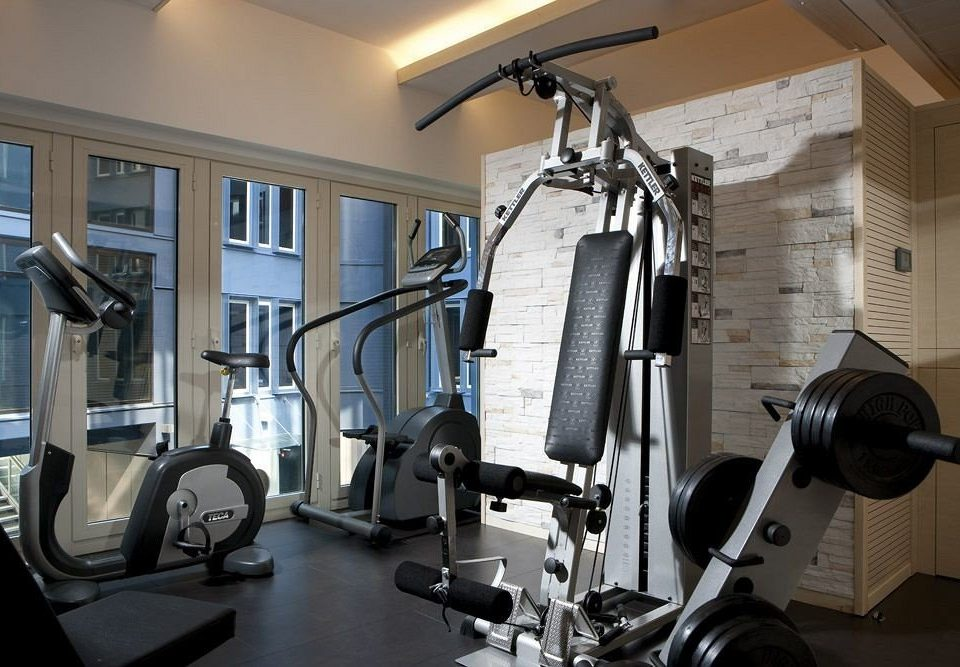 structure gym sport venue muscle arm office cluttered