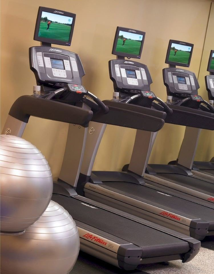 structure exercise machine sport venue exercise equipment gym electronics sports equipment arm treadmill computer