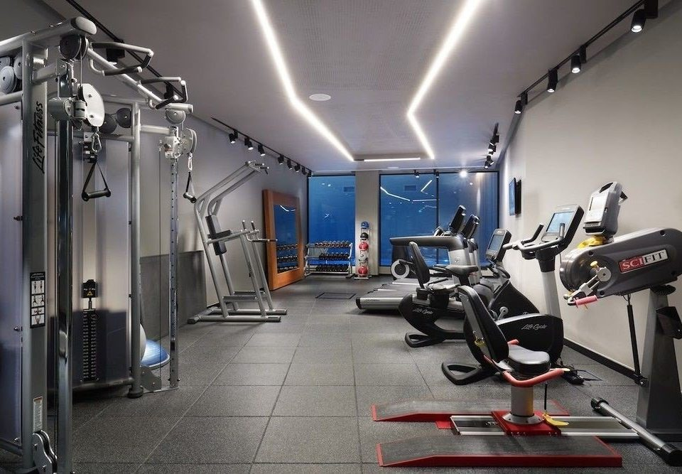 structure gym sport venue muscle arm