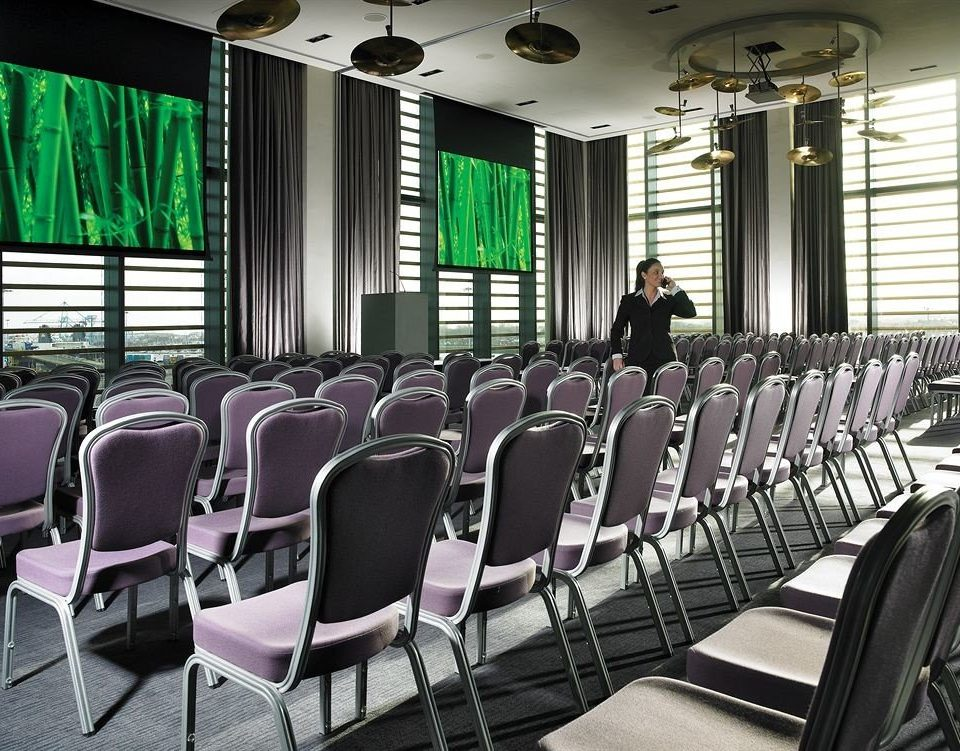 chair auditorium conference hall scene function hall convention center meeting classroom lined conference room arranged leather