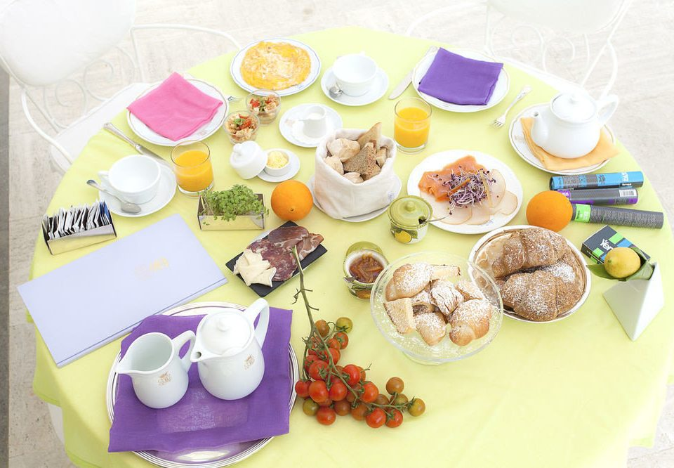 plate breakfast food lunch items brunch baby shower set arranged dining table