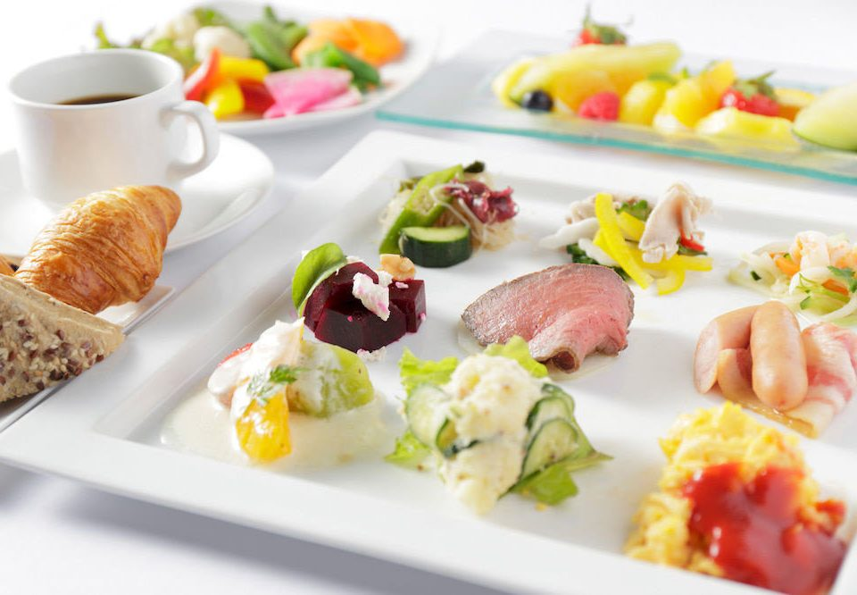 food plate hors d oeuvre breakfast cuisine brunch lunch meat canapé different containing arranged