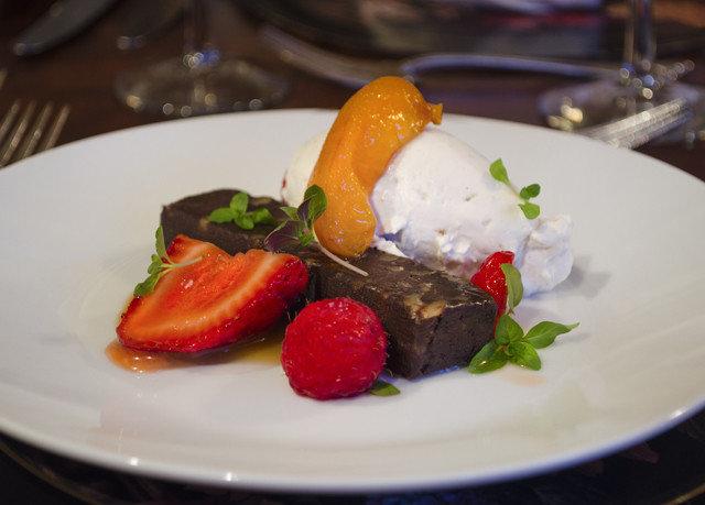 plate food white breakfast restaurant brunch slice dessert cuisine arranged piece de resistance