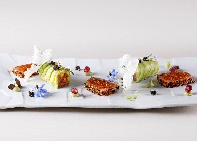 plate food breakfast cuisine dessert arranged