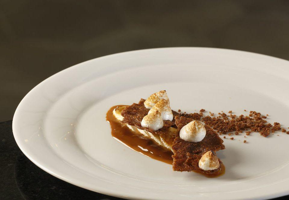plate food breakfast dessert white cuisine flavor sliced arranged