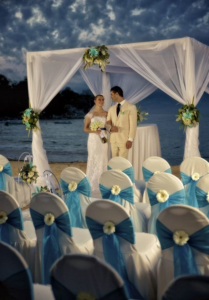 wedding ceremony flower different arranged