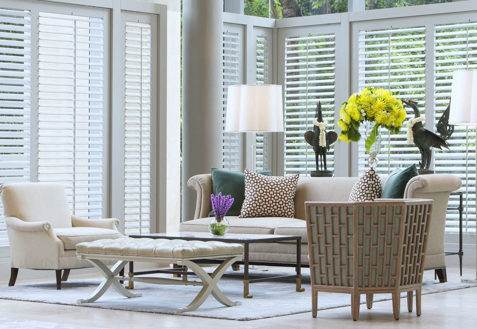 chair living room home porch window treatment dining table arranged