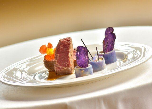 plate food meat cuisine white dessert sense restaurant arranged