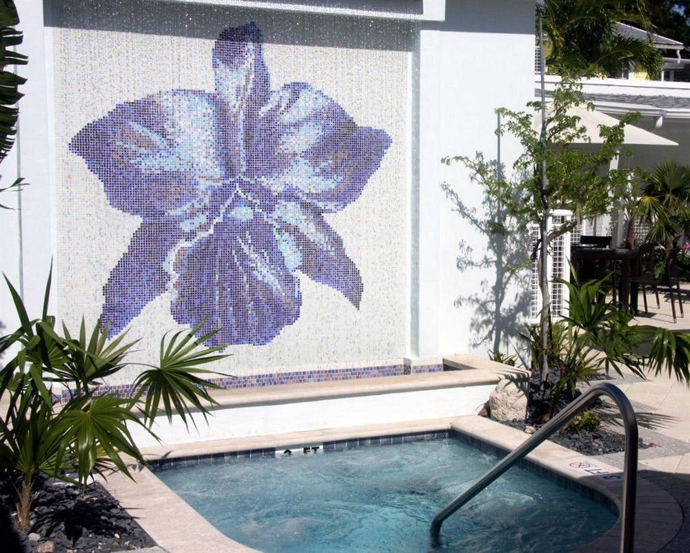 tree plant botany art flower mural backyard palm