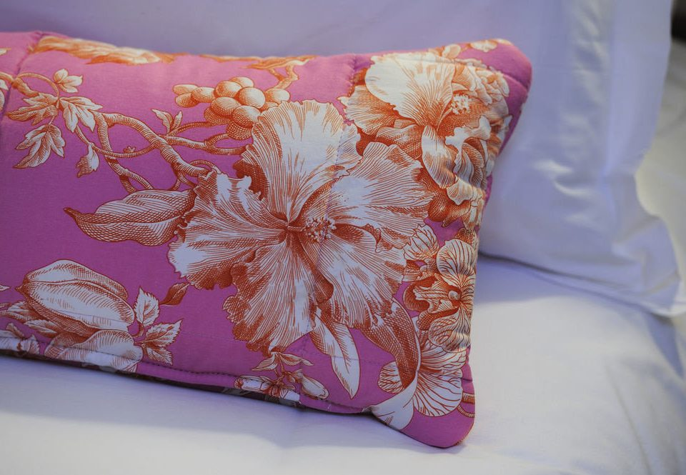 pink pillow bed sheet textile petal art cushion throw pillow material pattern bedclothes fabric