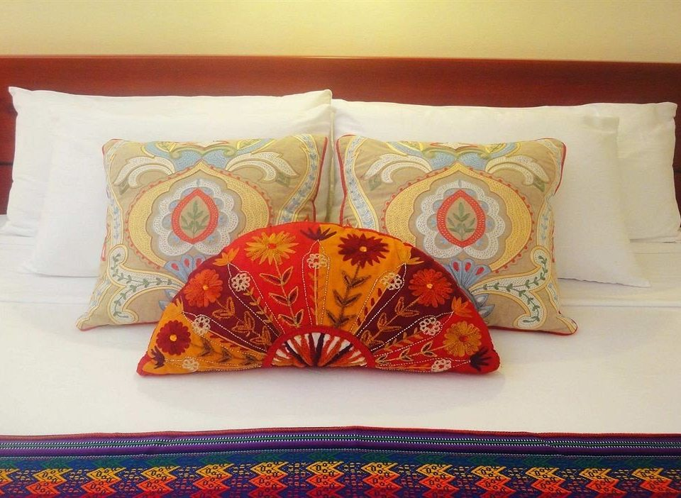 art bed sheet textile pillow cushion pattern patchwork material colorful colored