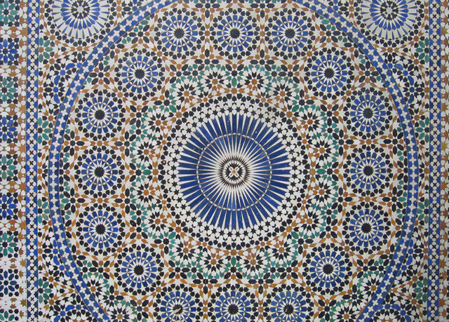 blue flooring pattern art circle carpet mosaic symmetry textile