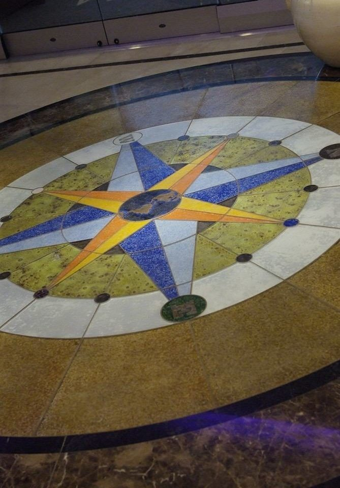 color plate blue art sundial circle shape glass wing flooring material