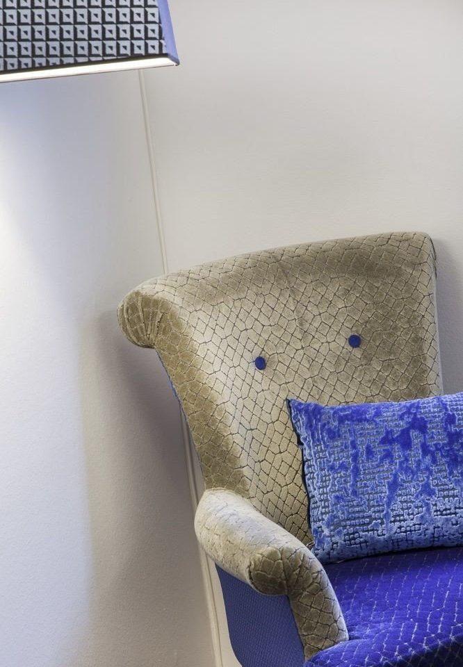blue art textile material pattern