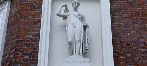 building brick statue sculpture monument art door