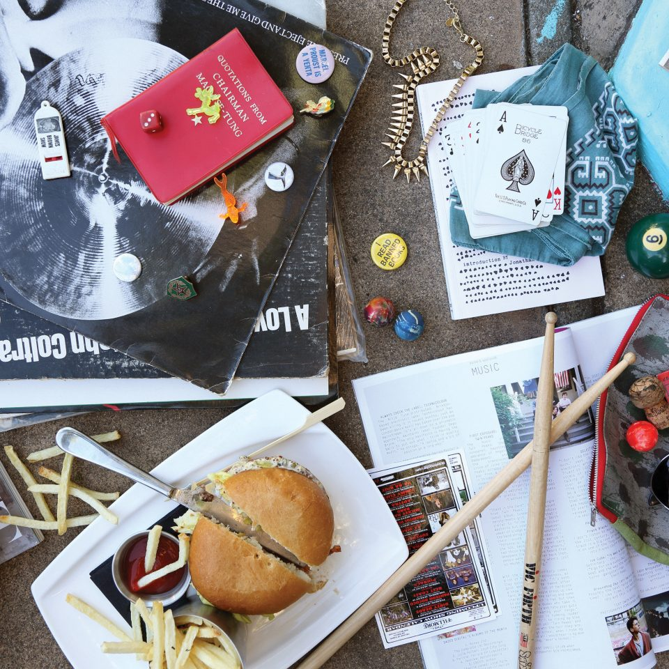 items art food collage