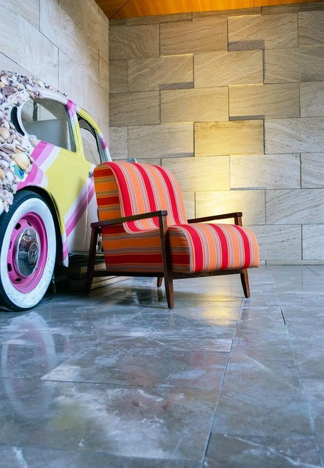 color red art flooring vehicle modern art stone