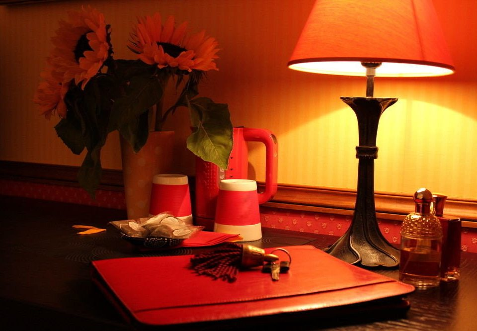 color red lighting art lamp restaurant flower