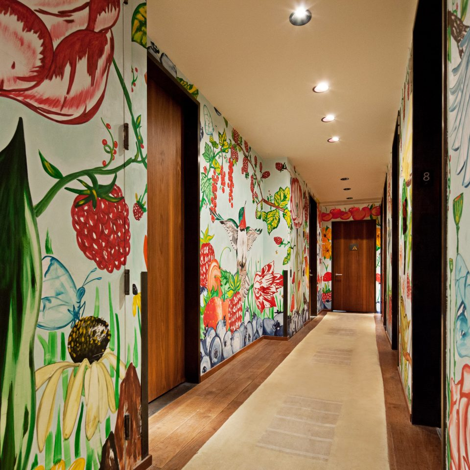 color green mural art modern art painted