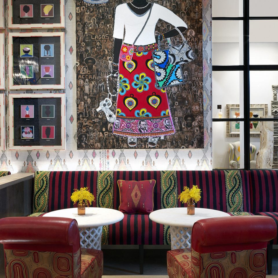 red art modern art living room colorful colored